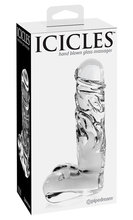 Glass dildo Icicles No.40 Дилдо с тестиси Icicles No.40