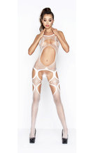 Crotchless bodystocking with openings Боди с множество отвори