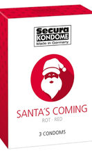 Santa's Coming pack of 3 condoms Презервативи Santa's Coming, 3 бр.